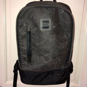 Nixon black leather backpack